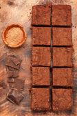 Brownies de chocolate — Foto de Stock