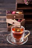 Herbal tea and dried herbs — Foto de Stock