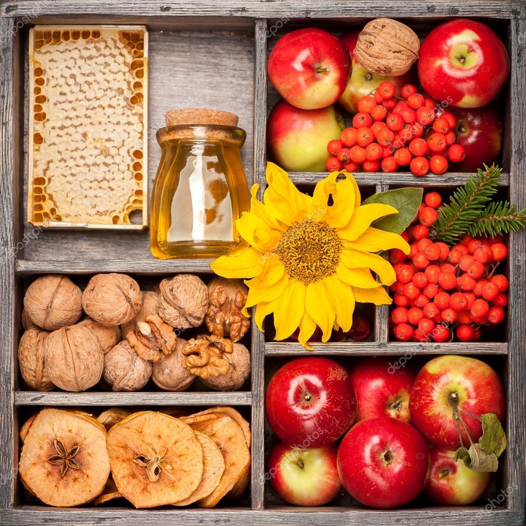 Картинки осень цветы яблоки