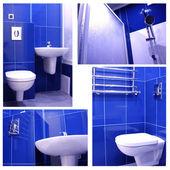 Mavi banyo — Stok fotoğraf