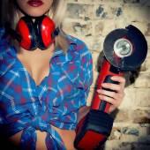 Sexy Girl holding a Bulgarian tool — Стоковое фото