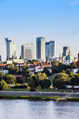Downtown Warsaw at afternoon sun — Stock Photo