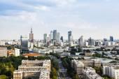 Warsaw city center — Stock Photo