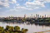 Warsaw downtown at afternoon — Stock Photo