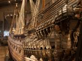 STOCKHOLM - JANUARY 6: 17th century Vasa warship salvaged from — Stock Photo