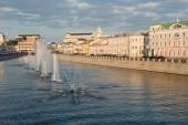 Fountains on Vodootvodny Canal in Moscow, Russia — Foto de Stock