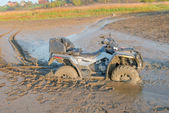 ATV drowned in the mud — Stock Photo