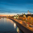 Night view of Moscow Kremlin in the summer, Russia — Stock Photo #55472891