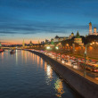Night view of Moscow Kremlin in the summer, Russia — Stock Photo #55472913