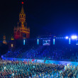 All participants and spectators on the international military music festival Spasskaya Tower — Stock Photo #56606923