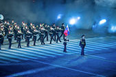 Orchestra of the Moscow military-musical school — Stock Photo