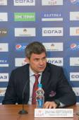 Head coach of CSKA hockey club Dmitry Kvartalnov — Stock Photo
