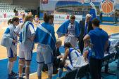 Dynamo Moscow team on timeout — Stock Photo