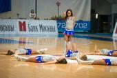 Cheerleaders dans — Stock Photo