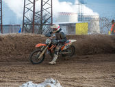 Riders at the track — Stock Photo