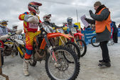 Motocross. Before the start — Stock Photo