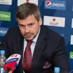 Head coach of CSKA hockey club Dmitry Kvartalnov — Stock Photo #67954209