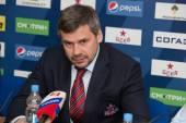 Head coach of CSKA hockey club Dmitry Kvartalnov — Stock Photo