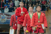 Winners of the World Cup Memorial A. Kharlampiev — Stock Photo