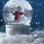 Snow globe in a snowy winter scene — Stock Photo #58230859