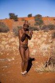 San man in native settlement — Photo