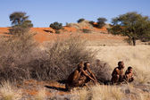 San people in native settlement — Photo