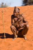 San man in native settlement — Photo