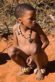 San child in native settlement — Stock Photo