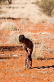 San child in native settlement — Photo