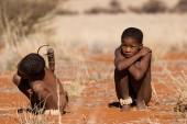 San children in native settlement — Photo