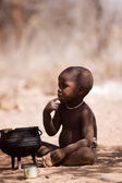 Himba child in native village — Stock Photo