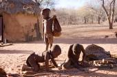 Himba children in native village — Stock Photo