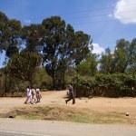 Streets of kenyan masai village — Stock Photo #61757693