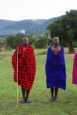 Kenyan maasai men in mantles — Foto de Stock