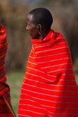 Kenyan maasai man in mantle — Stock Photo