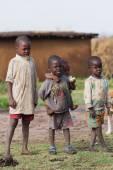 Kenyan masai kids — Stock Photo