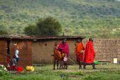 Kenyan masai people — Stock Photo