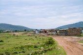 Petrol station in kenyan village — Stock Photo