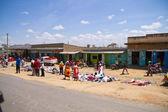 Streets of kenyan masai village — Stock Photo