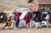 Masai tribal people — Stock Photo