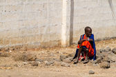 Masai tribal woman — Stockfoto