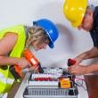 Electricians working indoors — Stock Photo #65025969