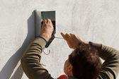固定设备电工 — 图库照片