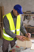 Male joiner working — Stock Photo