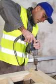Male joiner working — Zdjęcie stockowe