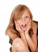 Surprised young girl. — Stock Photo