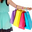 Girl holding shopping bag's. — Stock Photo #55506635