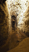 Old historical underground stream sewer — Stock Photo
