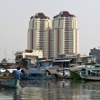 Jakarta harbor Old canal, Indonesia — Stock Photo #73237169