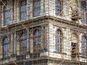 Fragment of scaffolding in Prague — Stock Photo